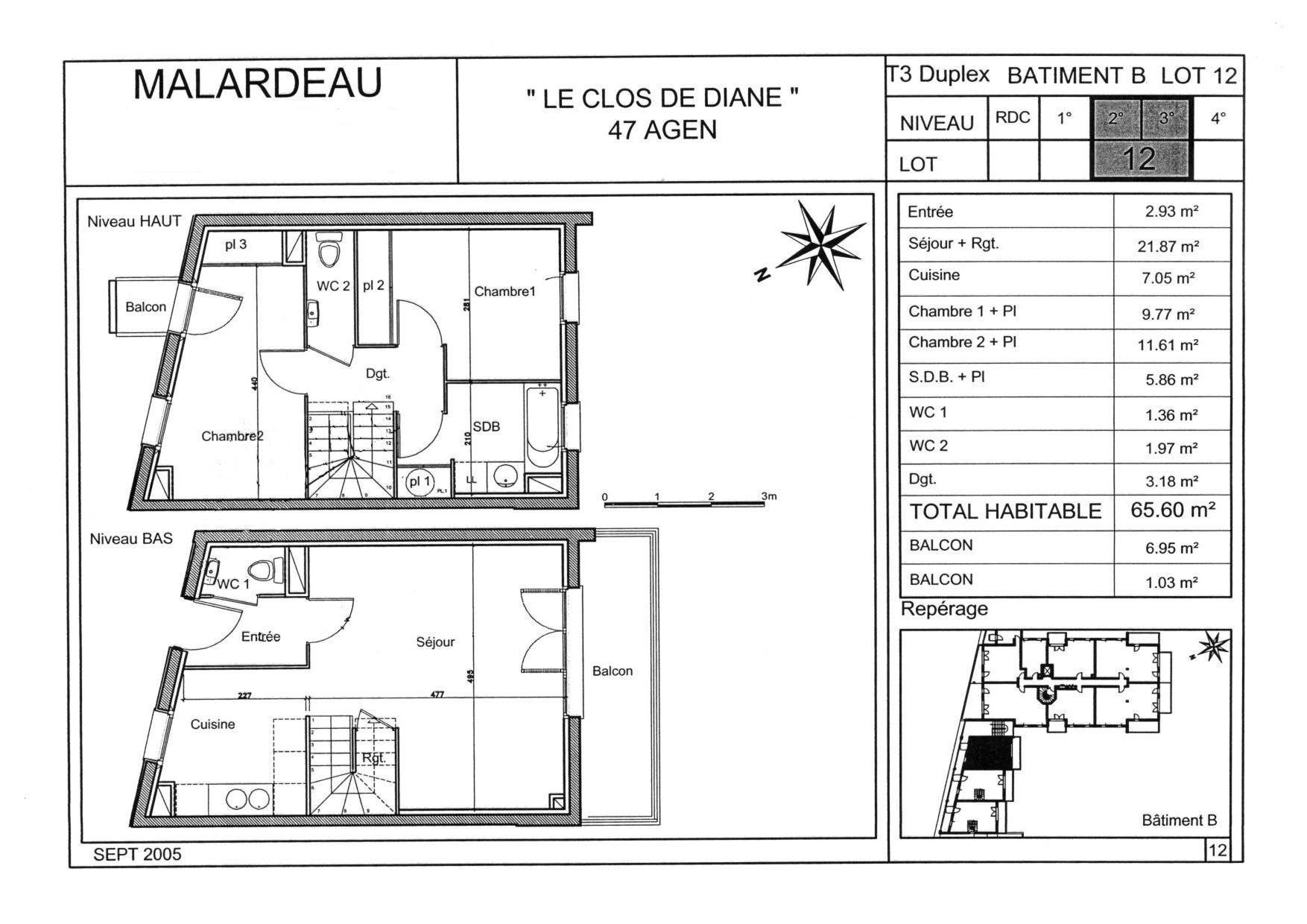 Envoyez vos demandesd 39 information l 39 adresse t3duplex65 for Plan maison duplex